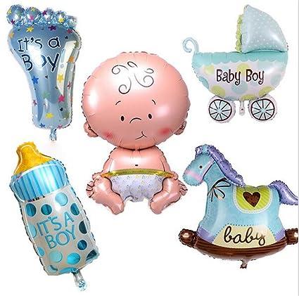 Amazon.com: ximkee 18 inch azul recién nacido niños globos ...