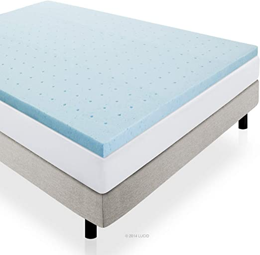 Amazon Com Lucid 2 Gel Infused Ventilated Memory Foam Mattress