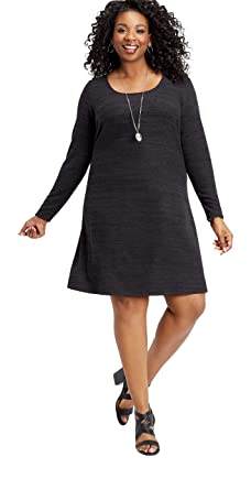 maurices Women\'s Plus Size Scoop Neck Crocheted Back Dress at Amazon ...
