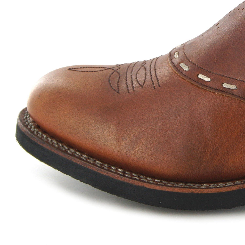 Sendra Boots 8325 Tang Herren Westernreitstiefel mit Merinofell Futter braun