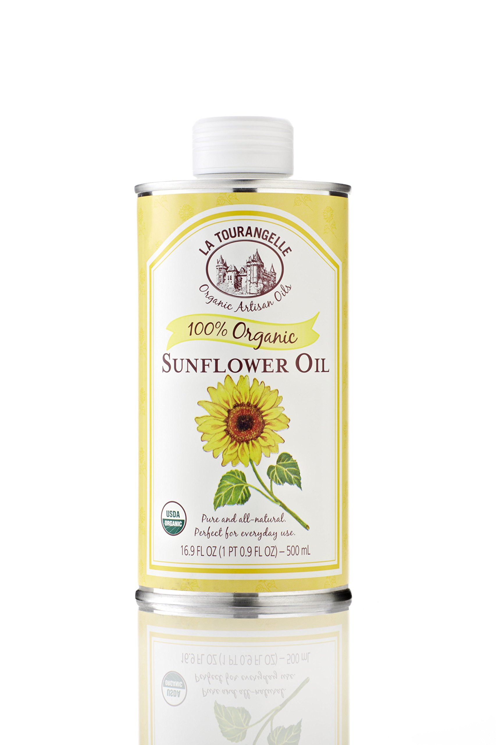 La Tourangelle Organic High Oleic Sunflower Oil, 16.9-Ounce Tins (Pack of 3)