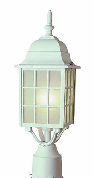 Trans Globe Lighting 4421 Wh Outdoor San Gabriel 18 5 Quot Postmount Lantern