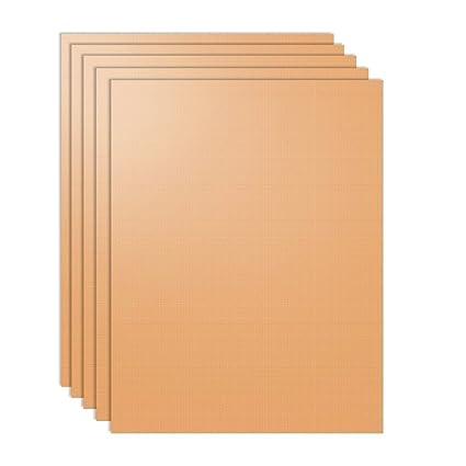 nouvelife – Lote de 5 hoja de cocción reutilizable 40 x 33 cm alfombra de horno
