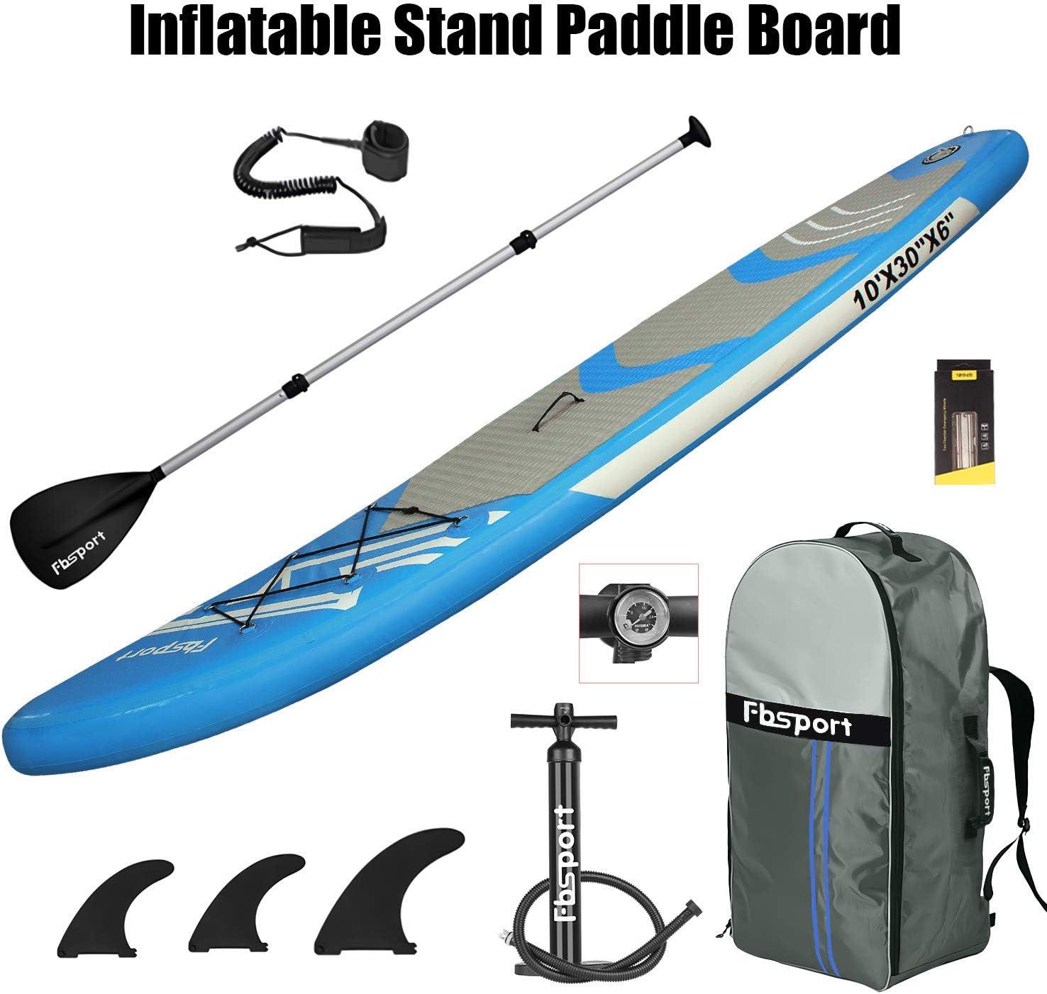 FBSPORT Sup Hinchable, 15 cm de Espesor Tabla de Surf Sup Paddleboard
