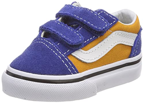 0e2ad46a3a Vans Old Skool V Pop Og Blue Og Gold Toddler Shoes (7 M US