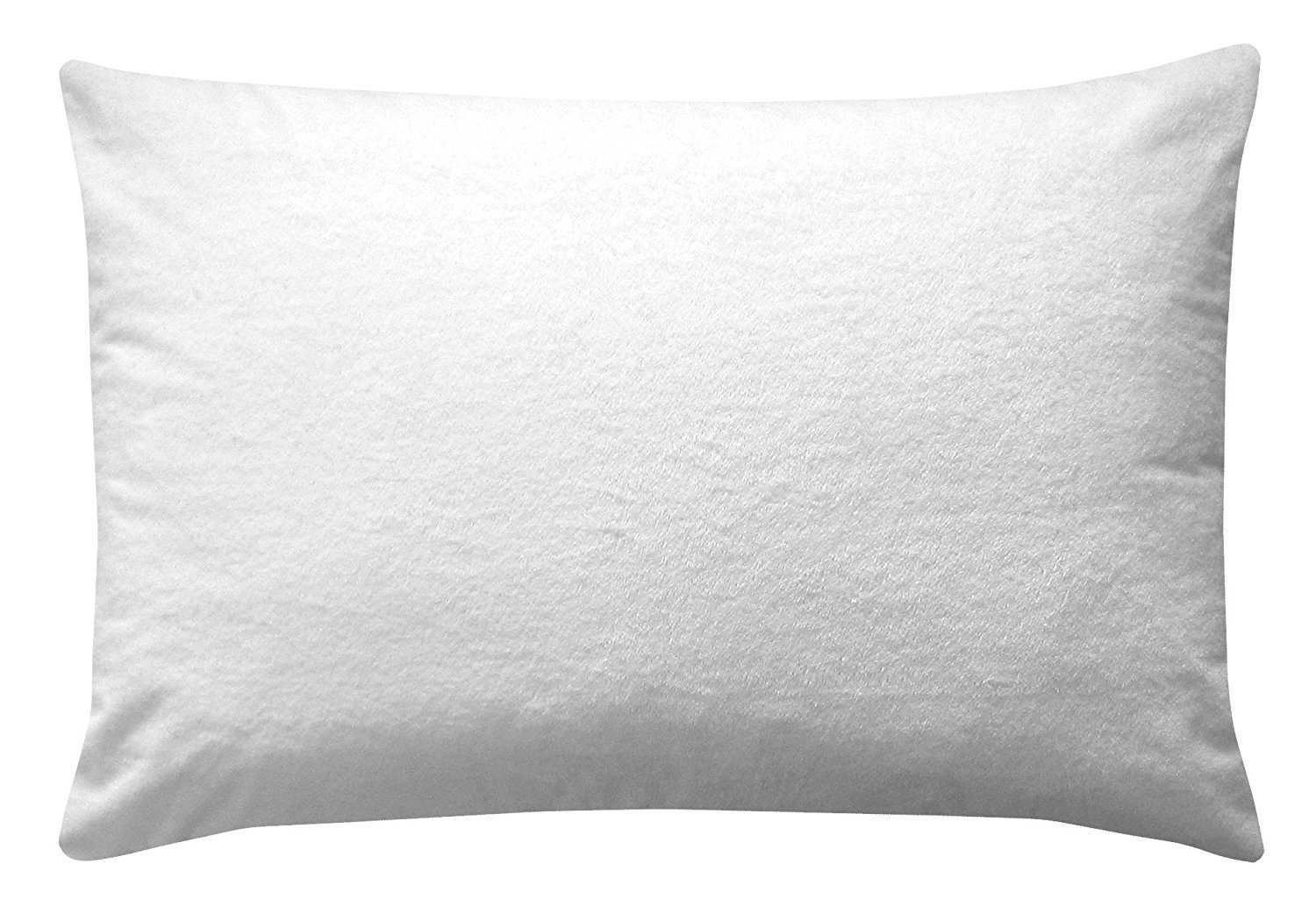 Levinsohn Terry Top Waterproof Pillow Protector Soft Cotton Blend Zip Closure 1 Pillow Cover, Standard, White FRE-149-XX-WHIT-07