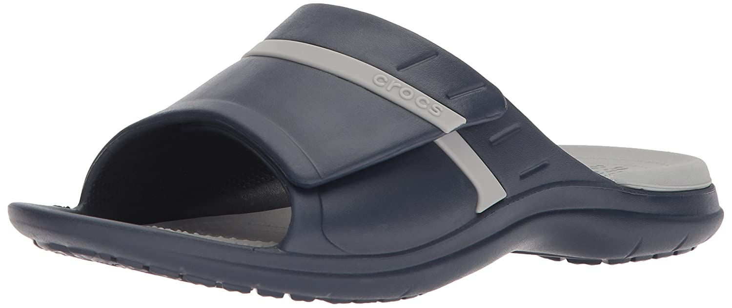 Crocs Unisex Modi Sport Slide B071FTWFTL 8 US Men/ 10 US Women M US|Navy/Light Grey