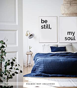 Amazoncom Be Still My Soul Artwork Set Of 2 Prints Above The