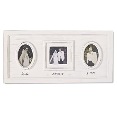 Mud Pie 3  x 5  White-Washed Wedding Mr. and Mrs. Frame