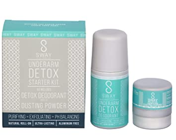 Sway Detox Deodorant Kit: Roll on Deodorant + Dusting Powder, All Natural  Deodorant for Women (with