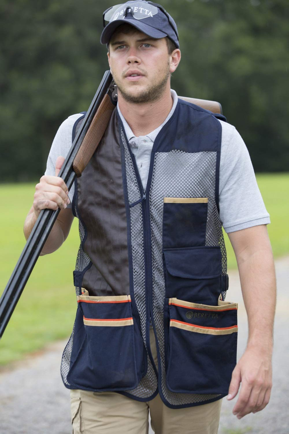 Beretta Mens US Two Tone Shooting Vest, Black Edition, S by Beretta (Image #1)