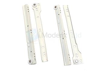Fantastisch Laufschienen Schubladen, Metall, 350 mm, Weiß: Amazon.de: Baumarkt UA01