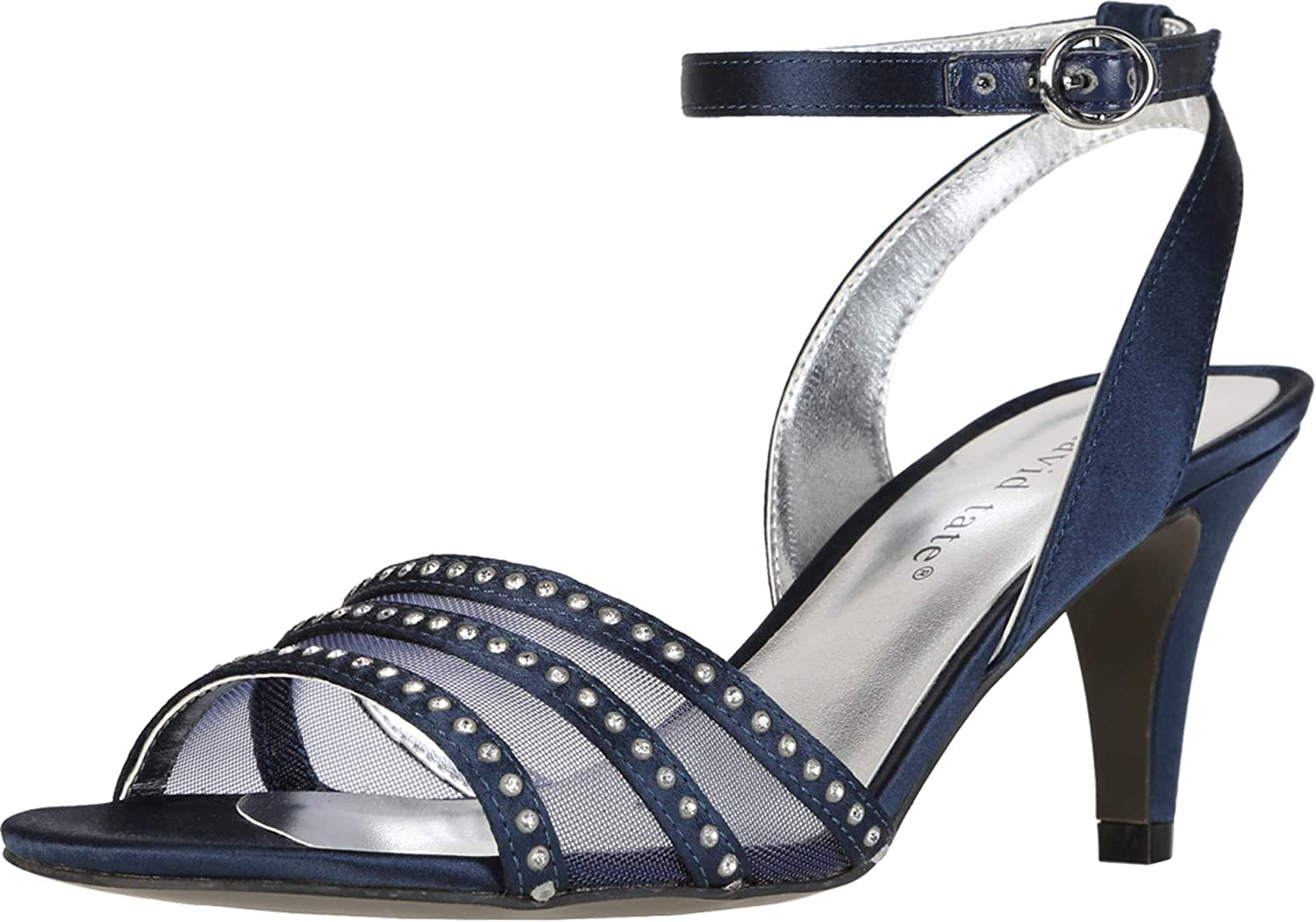 David Tate Womens Special price for a limited time Giada Strap Satin Studded New product Sandals