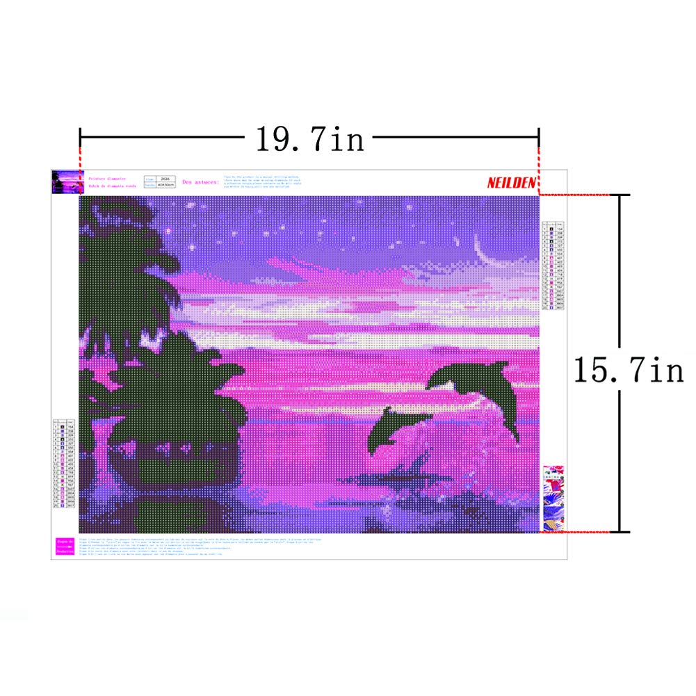 DIY 5D Diamond Painting Kits for Adults Full Drill Embroidery Paintings Rhinestone Pasted DIY Painting Cross Stitch Arts Crafts for Home Wall Decor 40x50cm//15.7x19.6Inches Red-Crowned Crane