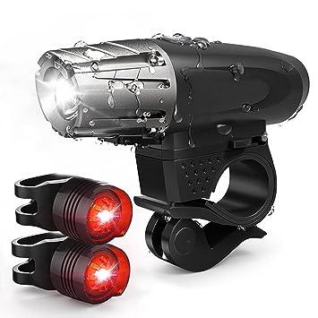 Luces de Bicicleta, NewZexi LED Bicicleta Faro Luz de la Cola ...