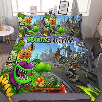 "SfeatrutMAT Bedding Duvet Cover 2 Piece Set,Plants Vs. Zombies,(116),Kids Girls Boys Cartoon Bed Set,Twin 55""x79\"": Kitchen & Dining [5Bkhe0705953]"