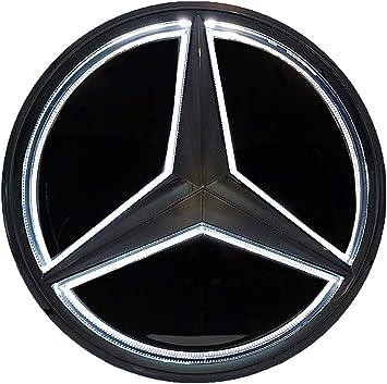 Front Grille White Light LED Star Emblem Badge for Mercedes Benz 2011-2018