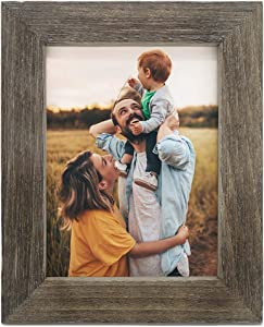 IKEREE 8x10 Picture Frames,Handmade Farmhouse Photo Frame with Rustic Looking, Built-in Easel for Tabletop or Wall Mounting Display