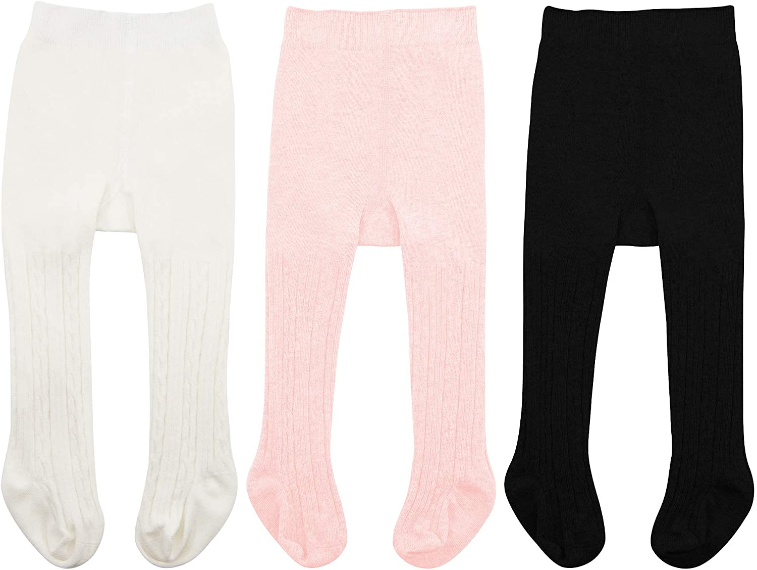 Zando Infant Soft Tights Toddler Seamless Leggings Tights for Baby Girls Winter Knit Warm Newborn Pants Stockings