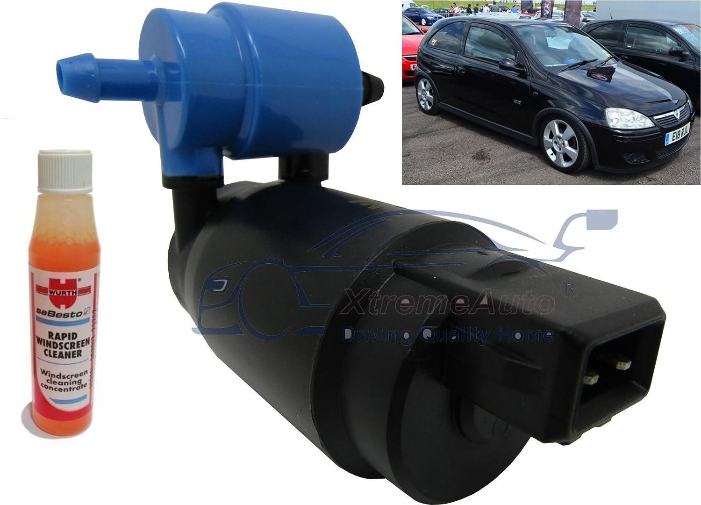 XtremeAuto/® Front /& Rear Windscreen Washer Pump Corsa C 3 Door 2000  2006