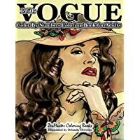 1950s Vogue Color by Numbers Coloring Book for Adults: Volume 15
