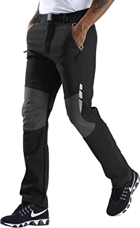 Outdoor Hiking Pants Men Women Windproof Warm Soft Shell Pants Trekking Trousers