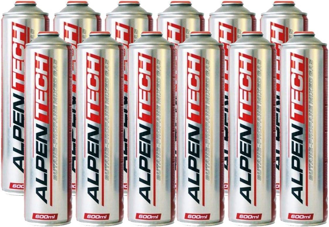 ALPENTECH - Cartucho de gas de 330 g x 12 butano propano ...