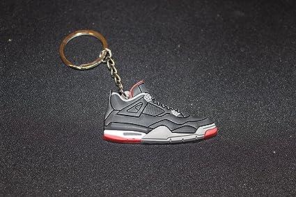 Amazon.com: Air Jordan 4 V A4 Retro Bred Negro/Rojo Clave ...
