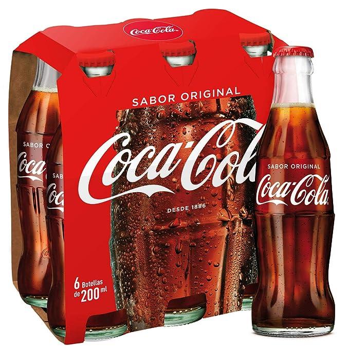 Coca-Cola - Botellín de Cristal 200 ml (Pack de 6)