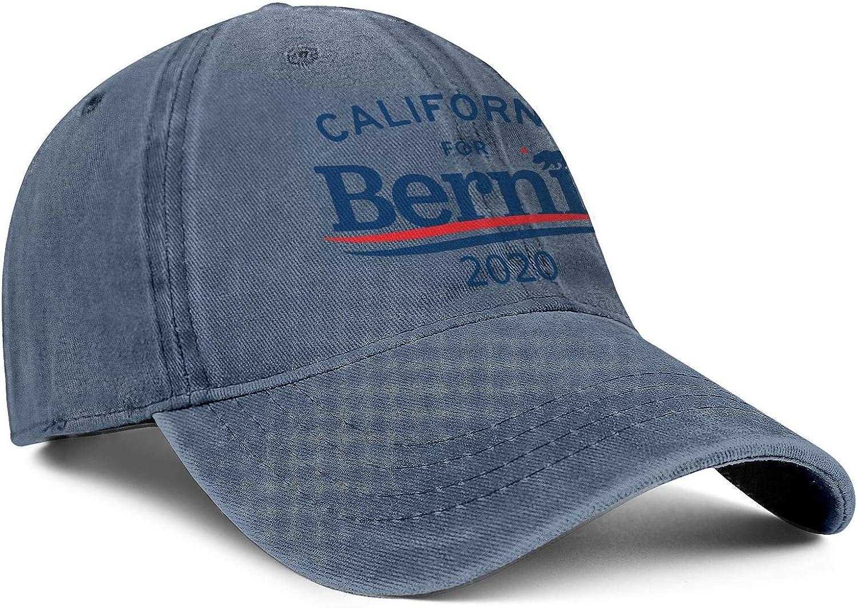 SJKSDVHF Unisex Fashion Denim Dad Hat Unconstructed Bernie Sanders 2020 Yard Work Baseball Hat