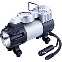 TIREWELL 12V Tire Inflator - Heavy Duty Direct Drive Metal Pump 150PSI, Portable Air Compressor with LED Light and…