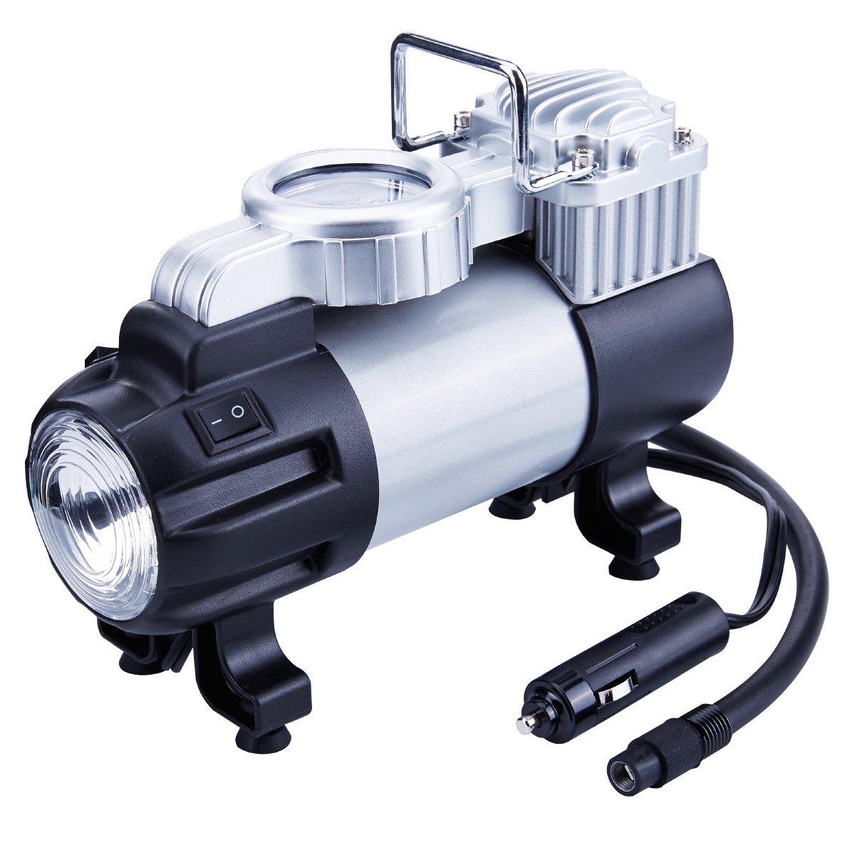 12 Volt Air Compressor Heavy Duty >> 12V Tire Inflator, Portable Air Compressor, Heavy Duty Direct Drive Pump 150PSI | eBay
