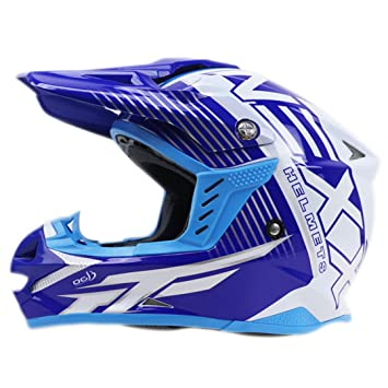 MATEROP Casco de Moto Cross Bike Helmet Dot ECE Approved Off Road Casco 2 S