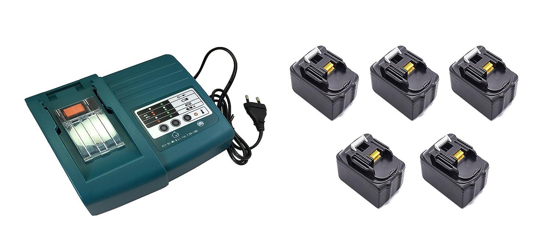 5pcs 18V 3.0Ah Werkzeug Makita Akku BL1830 mit 1pcs Makita Ladegeräte DC18RA DC18SC DC1803 DC1804 DC14SA