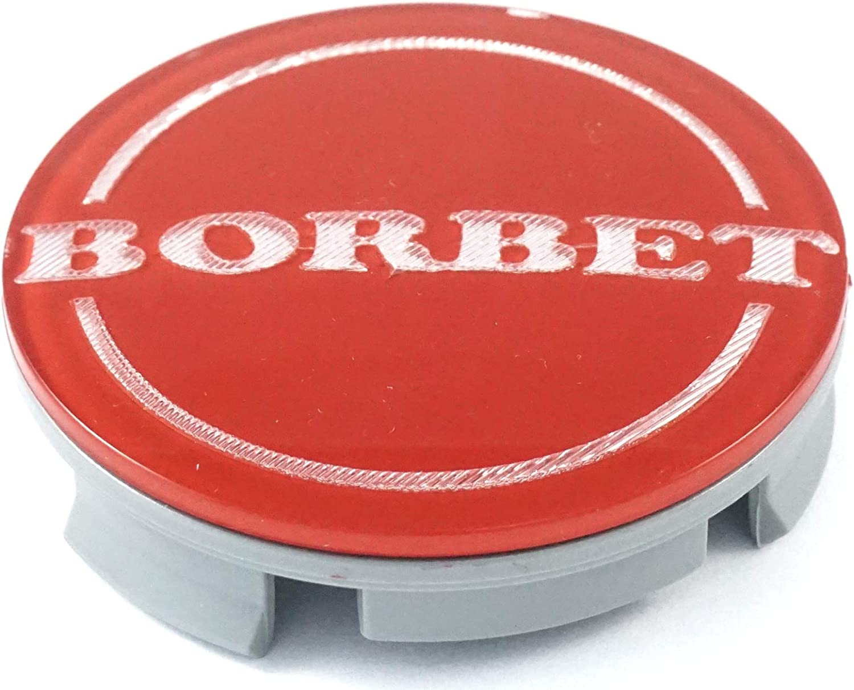 Nabenkappe Rot Center Cap 55mm NEU! Felgendeckel 1x Original Borbet Nabendeckel