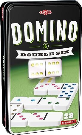 Tactic Domino Double 6 Niños y Adultos Juego Juego de Tablero (Juego, Niños y Adultos, 20 min, Niño/niña, 5 año(s), 99 año(s)): Amazon.es: Juguetes y juegos