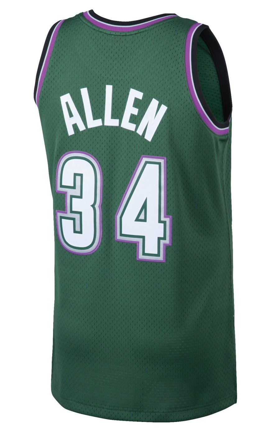 e1d2fb84d Amazon.com   Ray Allen Milwaukee Bucks Mitchell and Ness Men s Green  Throwback Jesey   Sports   Outdoors