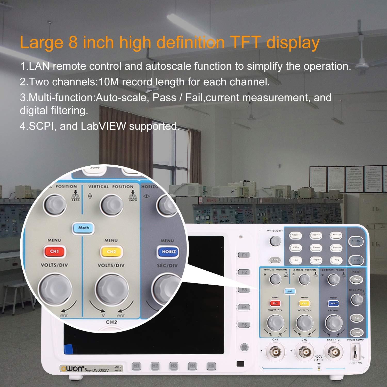 OWON SDS6062V Zweikanal-Tiefspeicher LCD Display Digital Speicher Oszilloskop Scopemeter Scope Meter 60MHz 500MSa / s