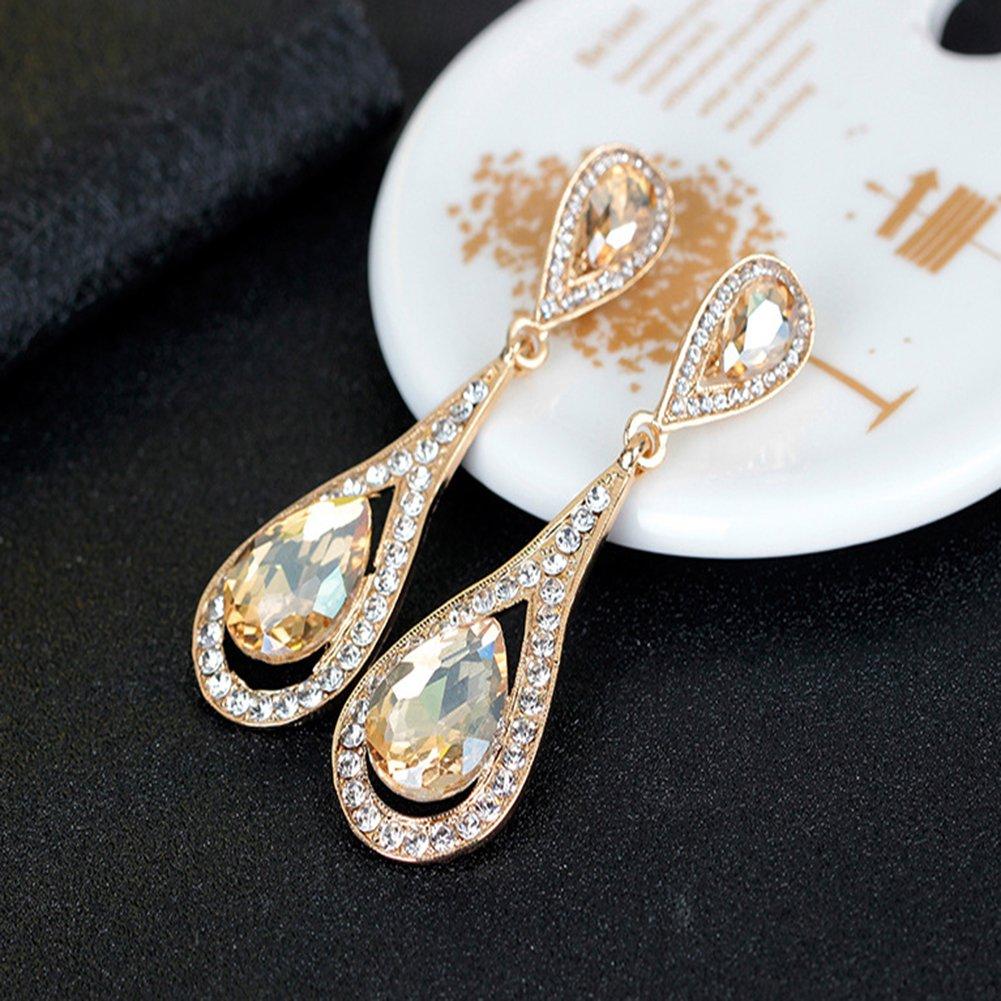 JAJAFOOK Vintage Bride Wedding Retre Crystal Tassels Pearl Dangle Earring,Fashion Earrings Jewelry