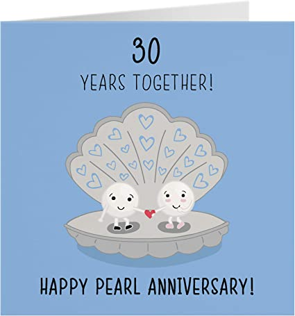 10th Wedding Anniversary Card - Pearl Anniversary - Iconic Collection