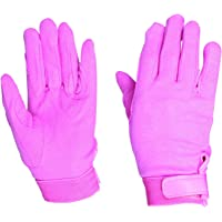 Dublin Childrens/Kids Track Riding Gloves (One Size) (Pink)