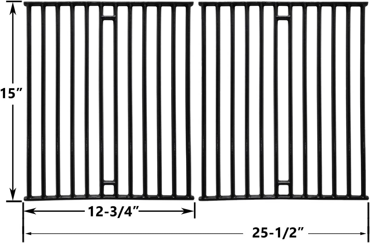155154 155954 155174 Porcelain Cast Iron Cooking Grid for Broil-Mate 1155-54 Set of 2 115554 1553-64 Gas Grill Models 115557 1551-64 1155-57 1961-57 155164 115994 1559-54 1551-54 1551-74 115784 115997 115787