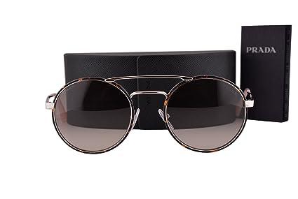 d45a3cf0eec Amazon.com  Prada PR51SS Cinema Sunglasses Silver Dark Havana w Pink ...