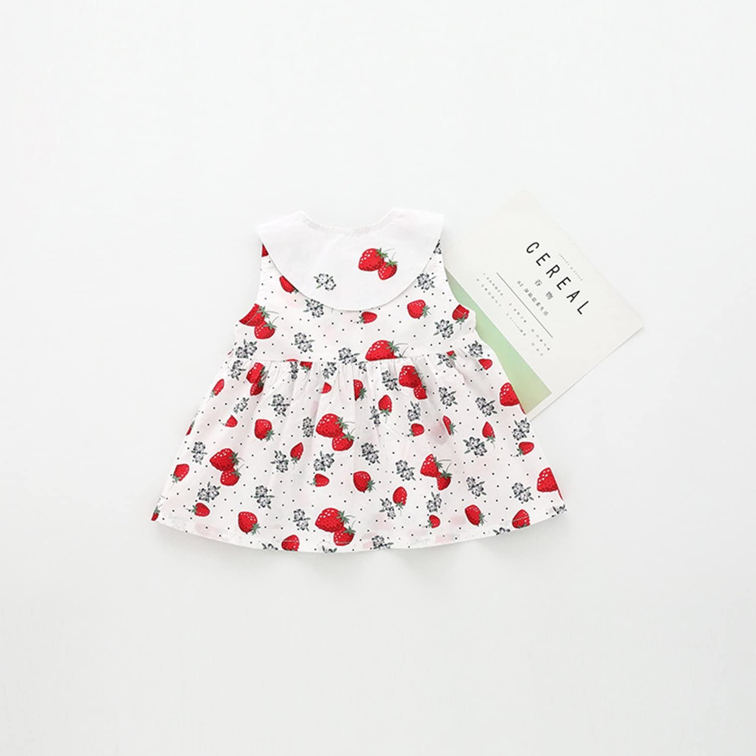 De feuilles Baby Girls Floral Pageant Princess Dress Toddlers Child Summer Sleeveless Party Dress