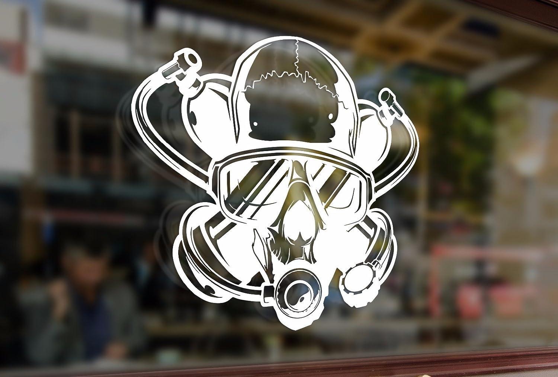 25cm DIVER Scull Scuba Diving Vinyl Stickers Funny Decals Bumper Car Auto Computer Laptop Wall Window Glass Skateboard Snowboard