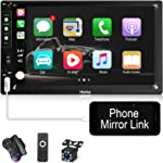 Hieha Double Din Car Stereo with Bluetooth Car Audio Receiver Support