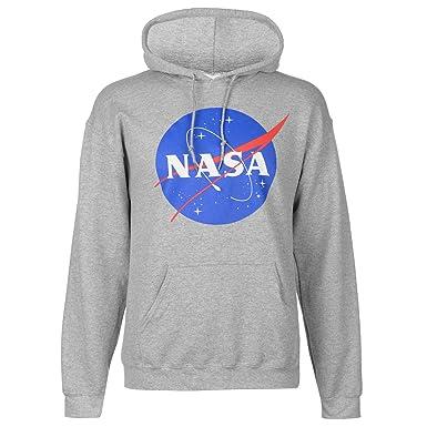 Official Hombre Classic NASA Logo Sudadera con Capucha: Amazon.es: Ropa y accesorios