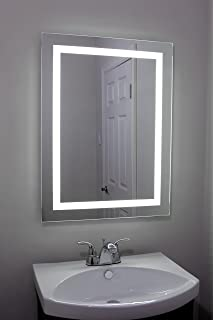 Lighted And Illuminated Large Beautiful Decorative Wall Mounted Frameless  Professional Makeup Mirror For Bathroom Or Vanity