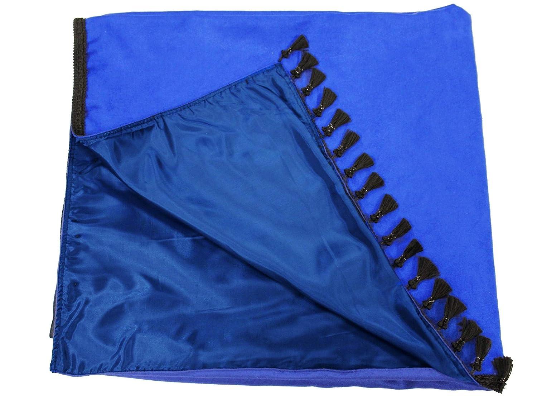 Fransen 4 cm. Adomo LKW Gardinen f/ür TGX XXL Fahrerhaus blau-schwarz