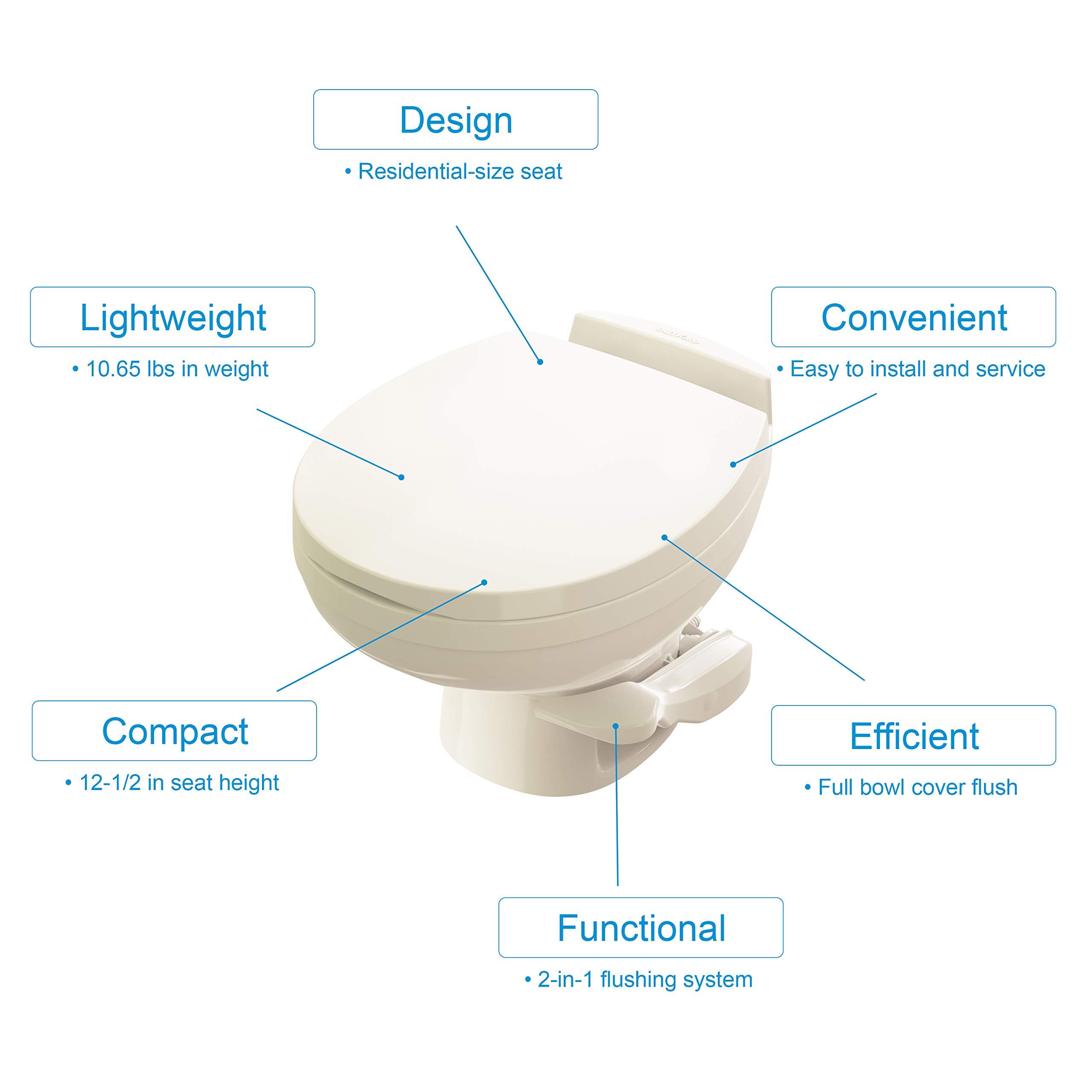 Aqua-Magic Residence RV Toilet / Low Profile / Bone - Thetford 42172 by Thetford